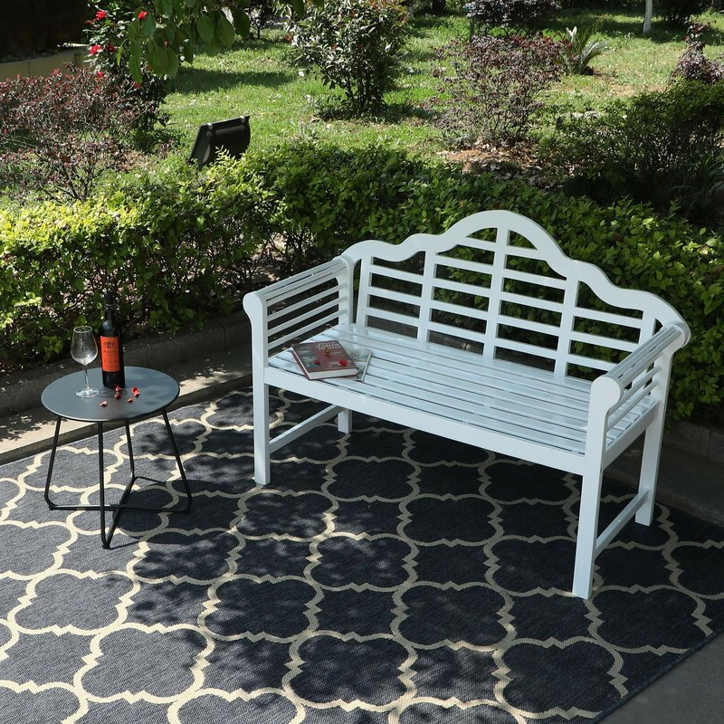 Fashionable Ahana Wooden Garden Bench Inside Ahana Wooden Garden Benches (View 4 of 20)