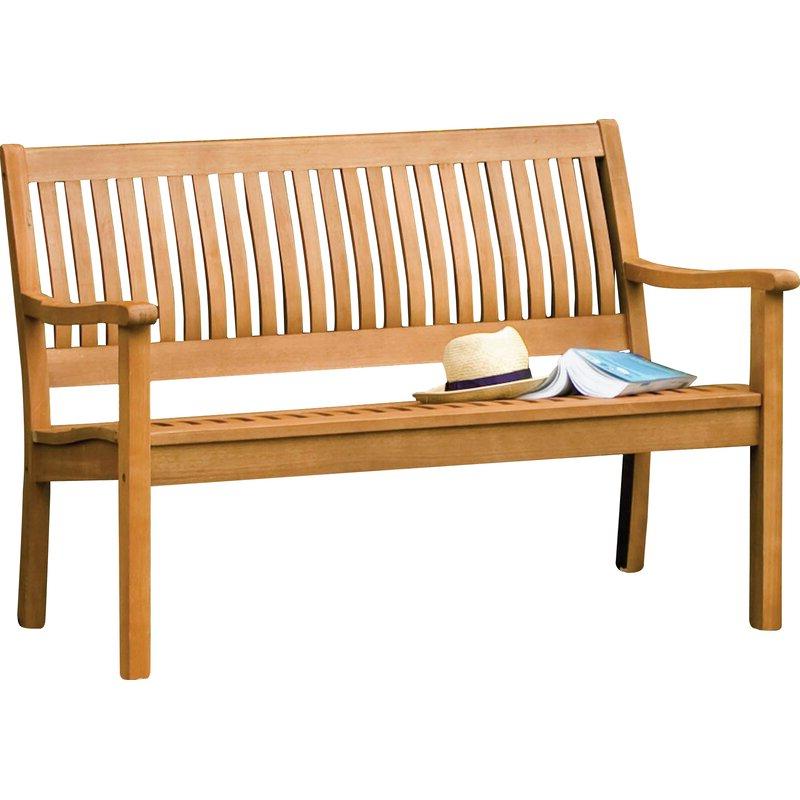 Fashionable Alfon Wood Garden Benches Inside Linntown Garden Bench (View 15 of 20)