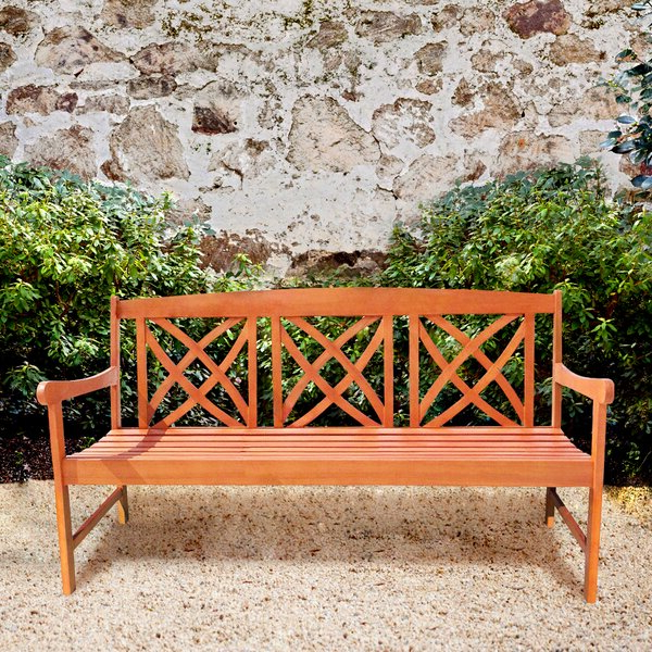 Fashionable Avoca Wood Garden Bench Pertaining To Alfon Wood Garden Benches (View 13 of 20)