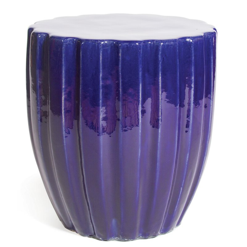 Fashionable Brode Ceramic Garden Stools Regarding Scallop Ceramic Accent Stool (View 18 of 20)