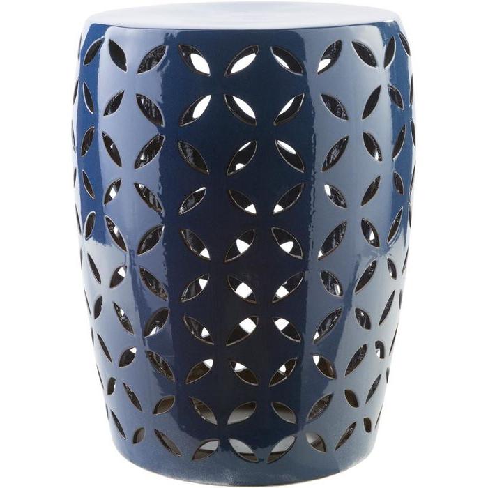 Favorite Amettes Garden Stools Inside Araceli Cobalt (blue) Garden Stool – Home Depot (View 11 of 20)