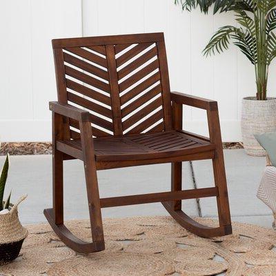 Favorite Skoog Outdoor Chevron Rocking Chair – Birch Lane With Regard To Skoog Chevron Wooden Garden Benches (View 18 of 20)