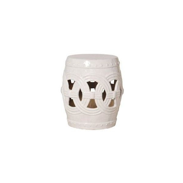 Fifi Ceramic Garden Stools For Recent Emissary White Ceramic Garden Stool (£370) ❤ Liked On (View 9 of 20)