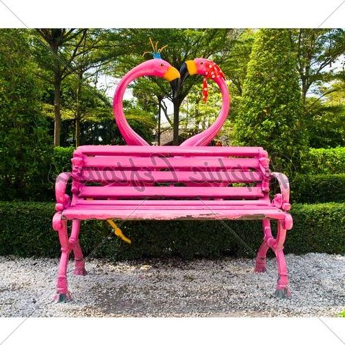 Flamingo Decor, Fancy Flamingo, Flamingo With Regard To Flamingo Metal Garden Benches (View 3 of 20)