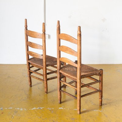 French Oak Side Chairs, 1920s, Set Of 2 Within Widely Used Oakside Ceramic Garden Stools (View 18 of 20)