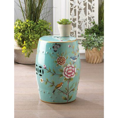 Garden Throughout Most Popular Janke Floral Garden Stools (View 6 of 20)