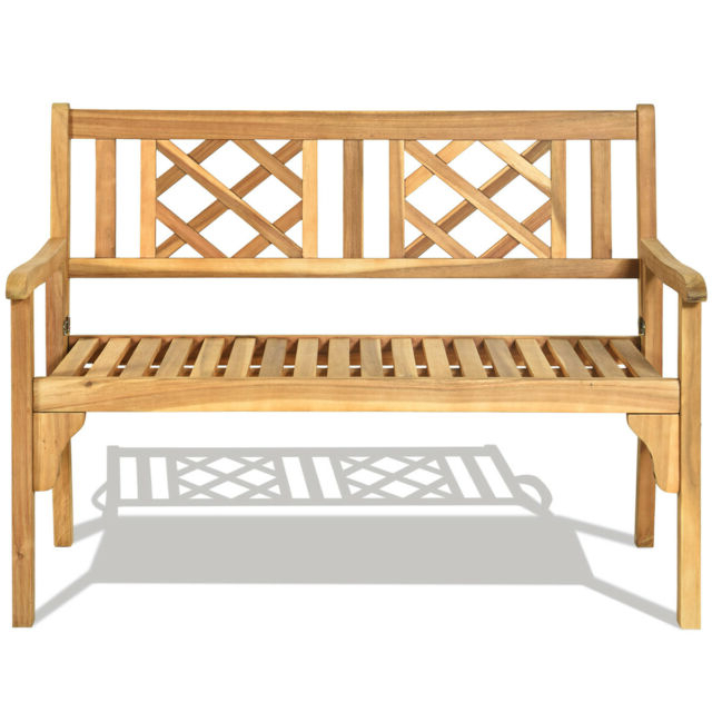 Hampstead Heath Teak Garden Benches For Well Known Patio Outdoor Acacia Wood Bench Folding Loveseat Chair Garden Furniture Teak (View 13 of 20)