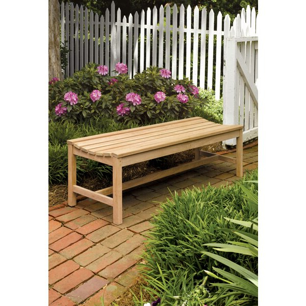 Harpersfield Backless Picnic Bench For Widely Used Harpersfield Wooden Garden Benches (View 7 of 20)