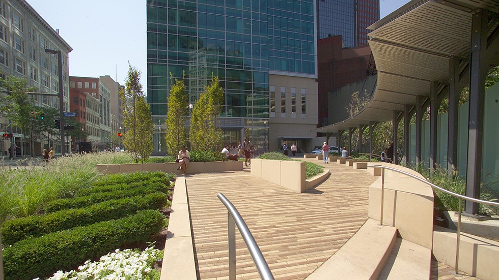 Heslin Steel Park Benches Pertaining To Most Recent Laquatra Bonci Associates: Pnc Triangle Park (View 17 of 20)