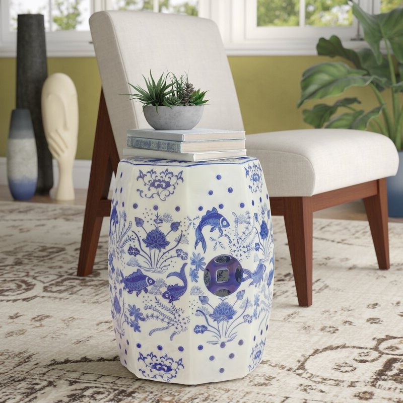 Holbæk Garden Stools Pertaining To Preferred Bilmont Ceramic Garden Stool (View 17 of 20)