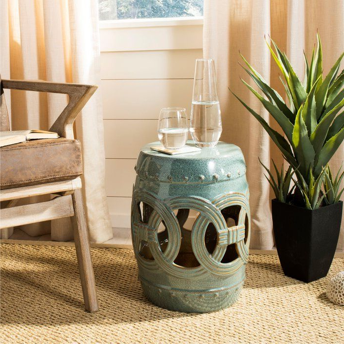Holbrook Ceramic Garden Stool In (View 4 of 20)