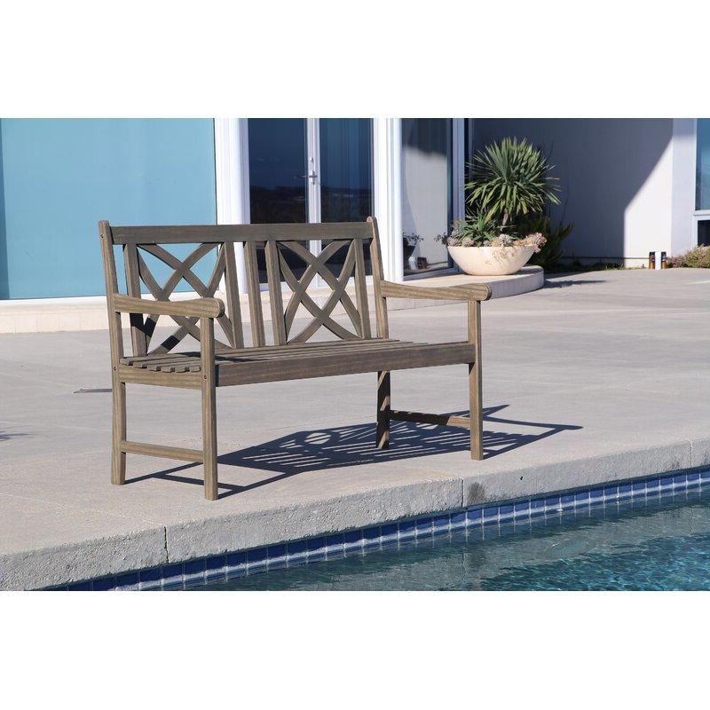 Ismenia Checkered Outdoor Cast Aluminum Patio Garden Benches Regarding Fashionable Shelbie Garden Bench (View 13 of 20)