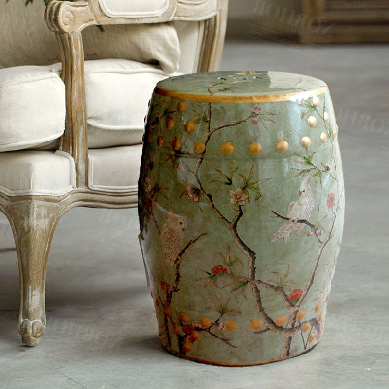 Janke Floral Garden Stools With Most Popular Pinmiu On Living Room (View 20 of 20)