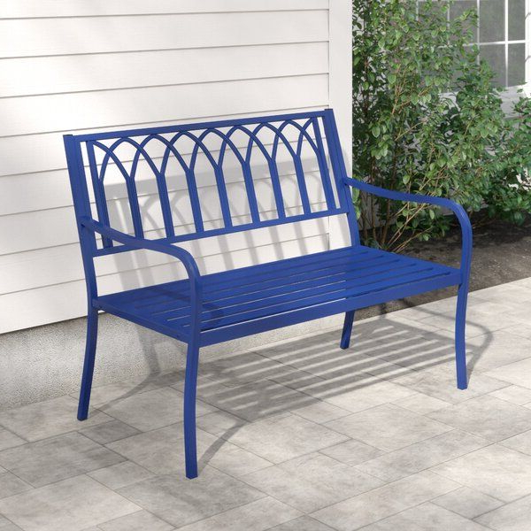 Joss & Main With 2020 Alvah Slatted Cast Iron And Tubular Steel Garden Benches (View 10 of 20)