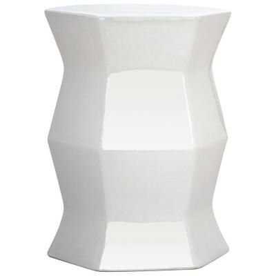 Karlov Ceramic Garden Stools Regarding Most Popular Safavieh Modern Hexagon Garden White Patio Stool Acs4542a (View 6 of 20)