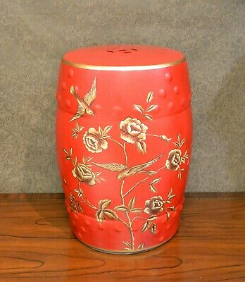 Kelston Ceramic Garden Stools With Regard To Recent Garden Stool Red Floral With Birds Ceramic (View 15 of 20)