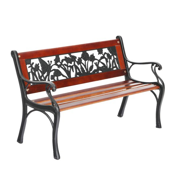 Krystal Ergonomic Metal Garden Benches With Fashionable Vintage Metal Bench With Back (View 12 of 20)