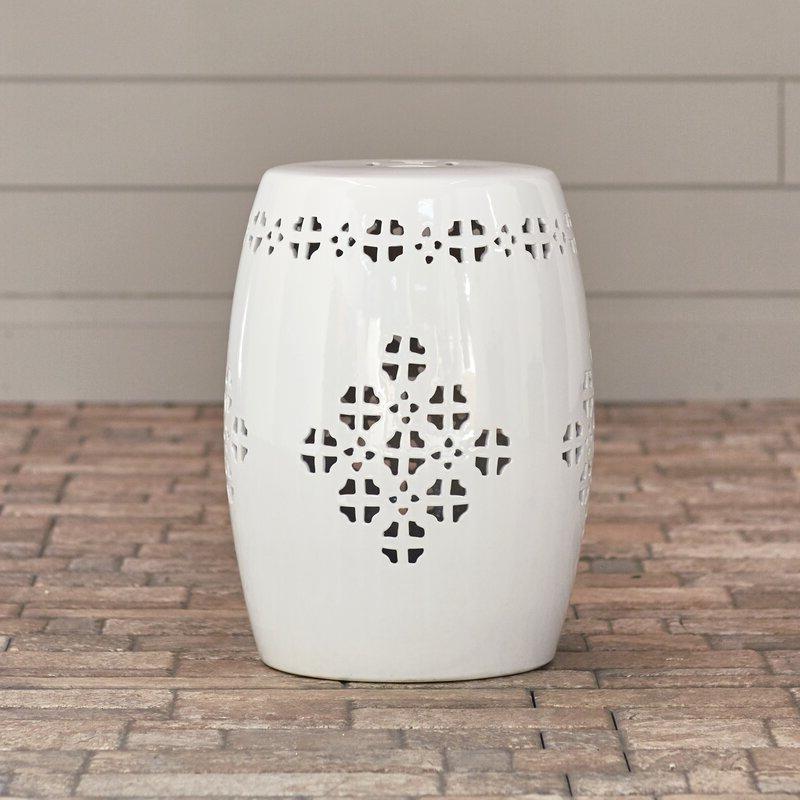 Kujawa Ceramic Garden Stools Regarding Most Up To Date Lorelei Ceramic Garden Stool (View 14 of 20)