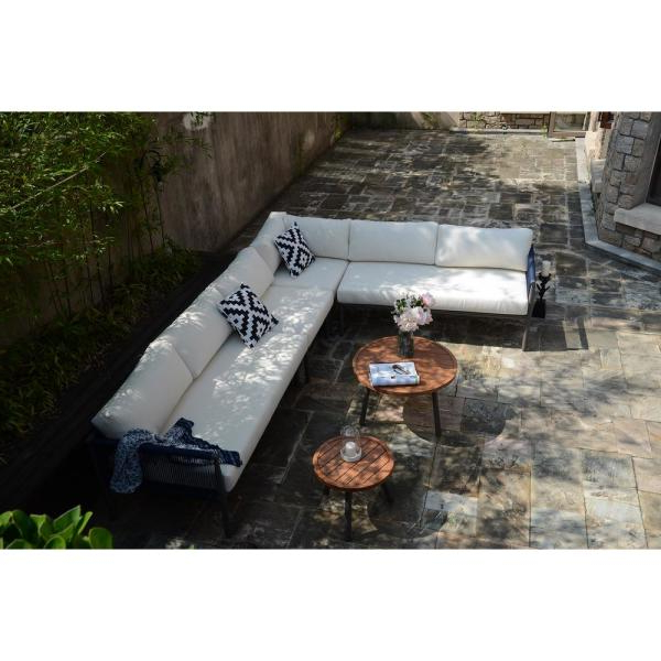 Latest Direct Wicker Michelle Grey 6 Piece Aluminum Outdoor Sofa With Regard To Michelle Metal Garden Benches (View 18 of 20)