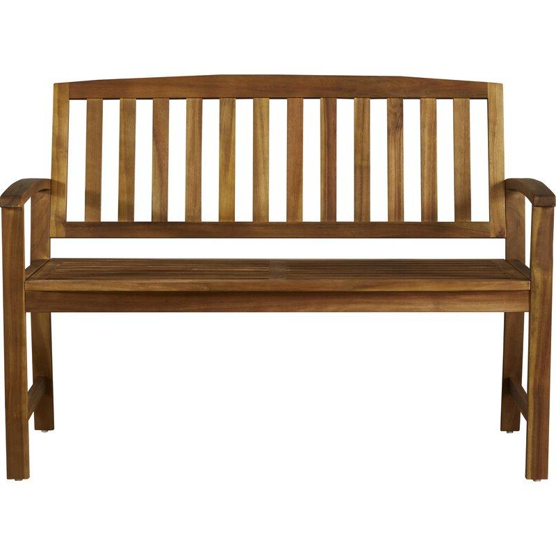 Latest Guyapi Garden Benches For Leora Wooden Garden Bench (View 10 of 20)