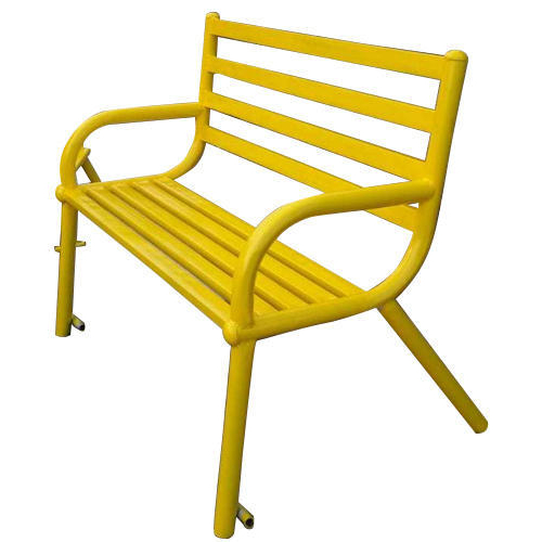 Latest Ishan Steel Park Benches Regarding Yellow Garden Bench (View 20 of 20)