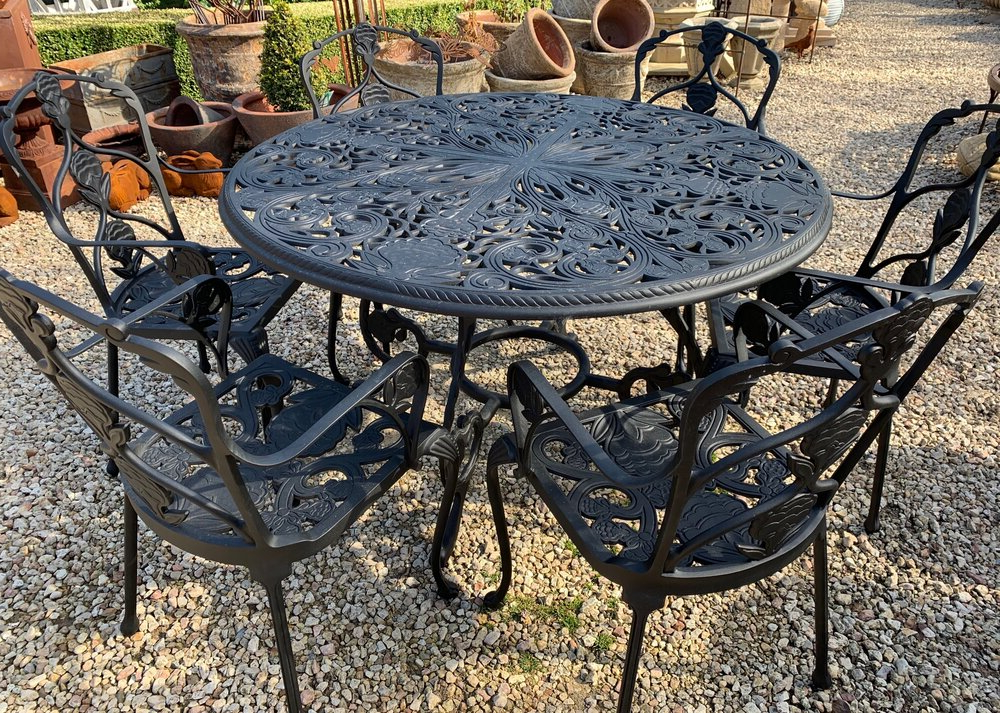 Latest The Jardin Room — The Jardin Room With Madeline Vintage Bird Cast Iron Garden Benches (View 12 of 20)