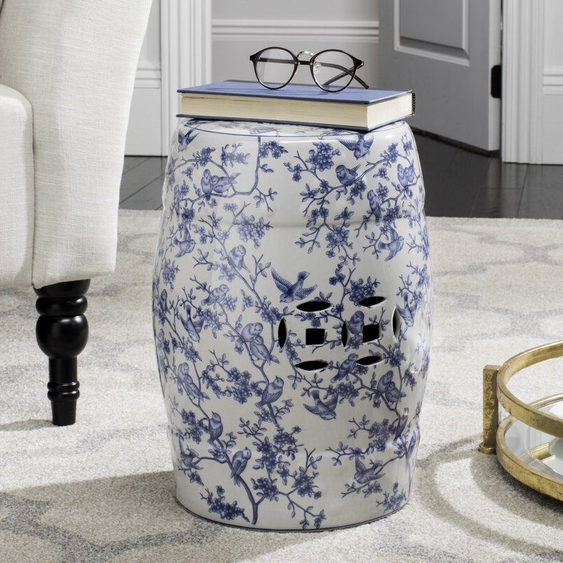 Latest Tufan Cement Garden Stools In Garden White Accent Stools You'll Love In  (View 16 of 20)