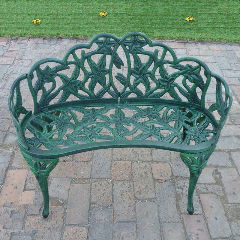 Lily Garden, Garden Patio Within Trendy Montezuma Cast Aluminum Garden Benches (View 20 of 20)