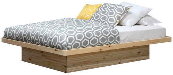 Lucille Timberland Wooden Garden Benches Regarding Trendy Gothic Furniture Full Size Platform Bed, Pine Wood, Unfinished (View 10 of 20)
