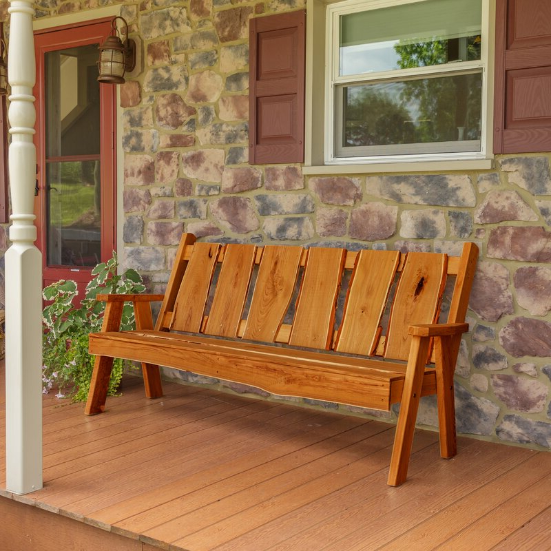 Lucille Timberland Wooden Garden Benches With Fashionable Lucille Timberland Wooden Garden Bench (View 3 of 20)