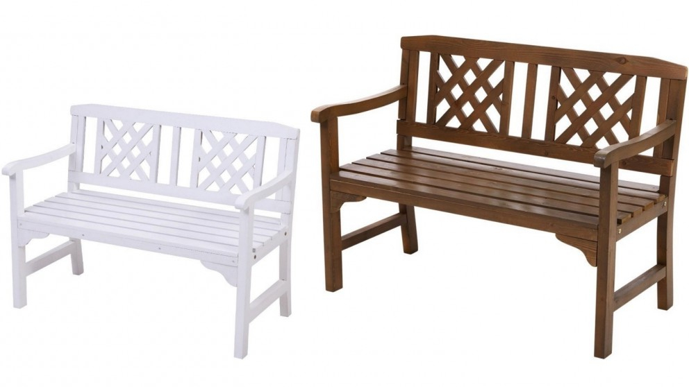 Manchester Solid Wood Garden Benches Intended For Popular Gardeon 2 Seater Wooden Garden Bench Seat (View 15 of 20)