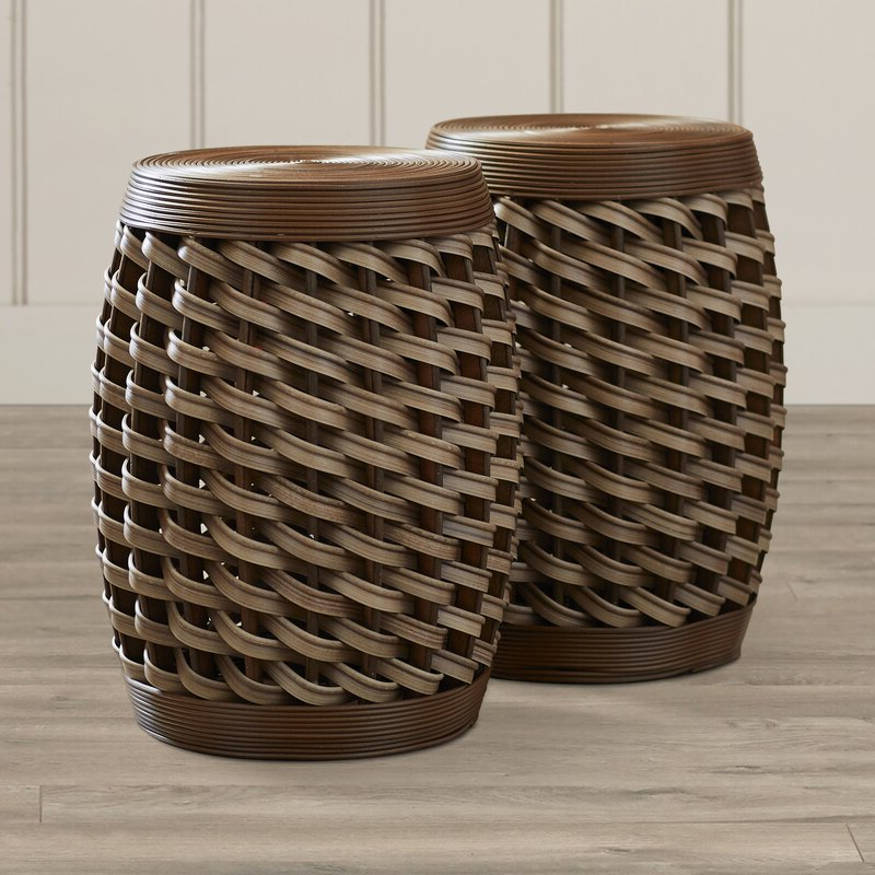 Messina Garden Stool Set Regarding 2020 Messina Garden Stools Set (set Of 2) (View 2 of 20)