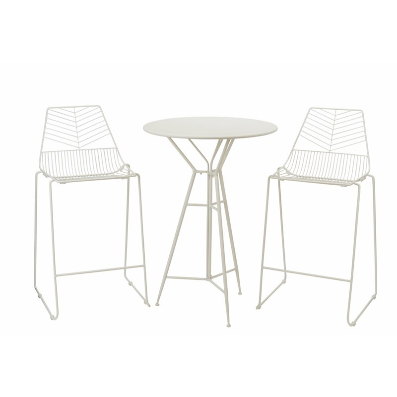 Messina Garden Stools Set (set Of 2) For Most Current Premier Messina 2 Seater Bistro Bar Outdoor Garden Furniture Set (fn184014w) (View 6 of 20)