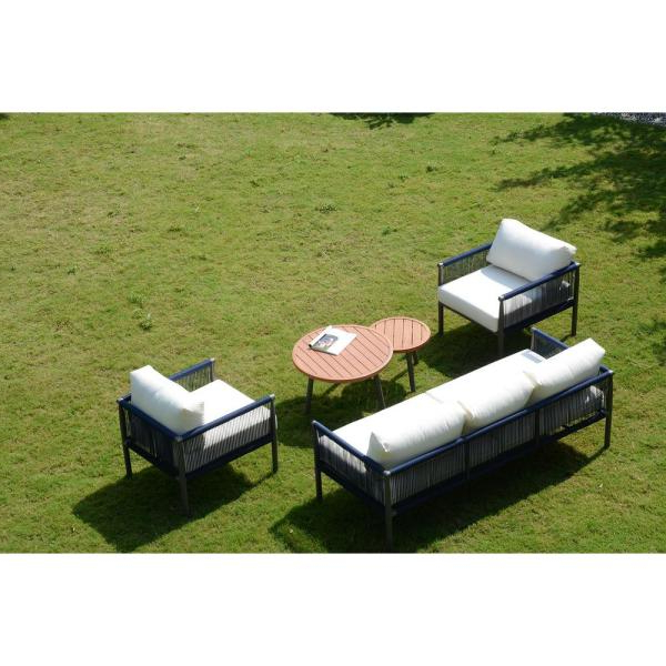 Michelle Metal Garden Benches Pertaining To Trendy Direct Wicker Michelle 5 Piece Aluminum Outdoor Sofa Set (View 15 of 20)