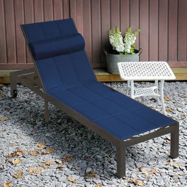 Michelle Metal Garden Benches Within Widely Used Michelle Antique Bronze & Blue 200cm Aluminium & Padded Mesh Fabric Garden Lounger (View 19 of 20)