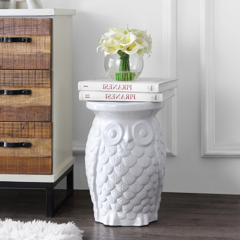 Middlet Owl Ceramic Garden Stool With Trendy Middlet Owl Ceramic Garden Stools (View 2 of 20)