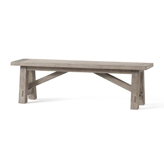 Most Current Ahana Wooden Garden Benches Pertaining To Toscana Dining Bench #potterybarn (View 14 of 20)