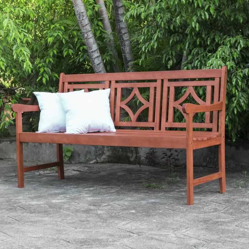 Most Current Amabel Patio Diamond Wooden Garden Bench Regarding Amabel Wooden Garden Benches (View 5 of 20)