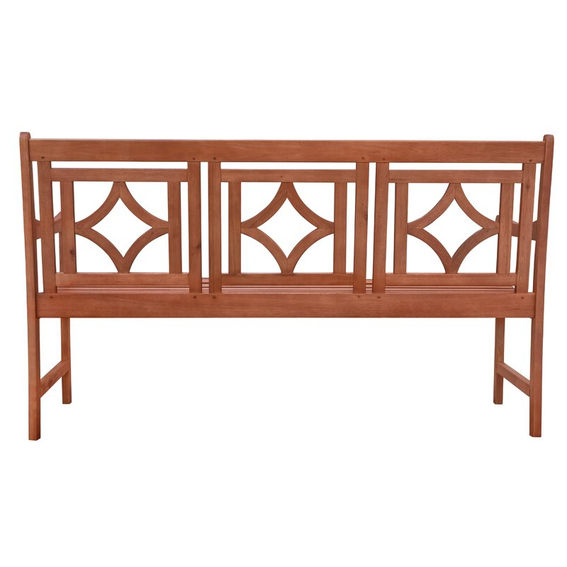 Most Current Amabel Patio Diamond Wooden Garden Benches Intended For Amabel Patio Diamond Wooden Garden Bench (View 14 of 20)