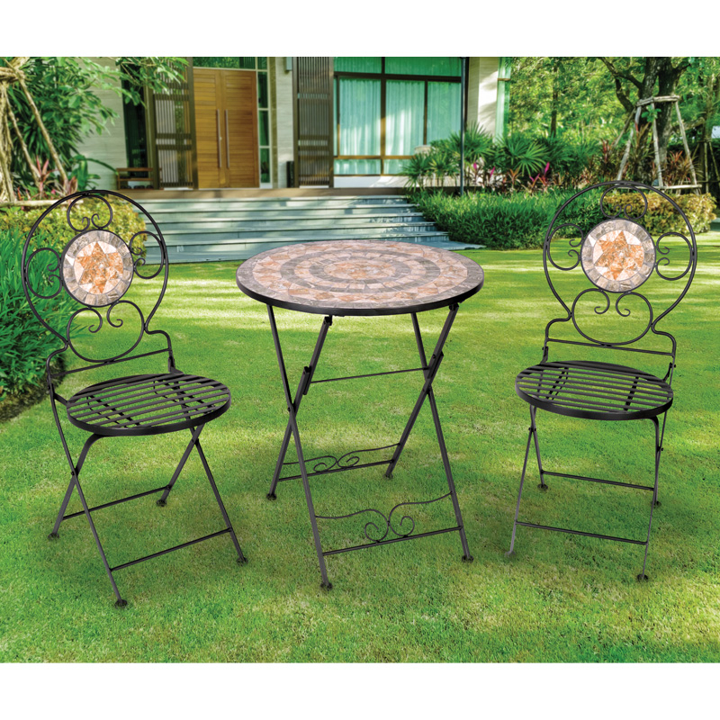 Most Current Messina 3 Piece Mosaic Bistro Furniture Set Within Messina Garden Stools Set (set Of 2) (View 8 of 20)