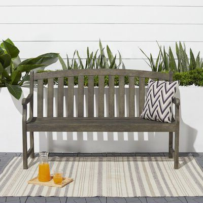 Most Current Shelbie Wooden Garden Benches For Shelbie Wooden Garden Bench Color: Grey In  (View 8 of 20)