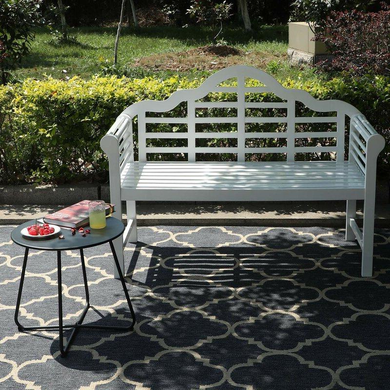 Most Popular Ahana Wooden Garden Bench Intended For Ahana Wooden Garden Benches (View 2 of 20)