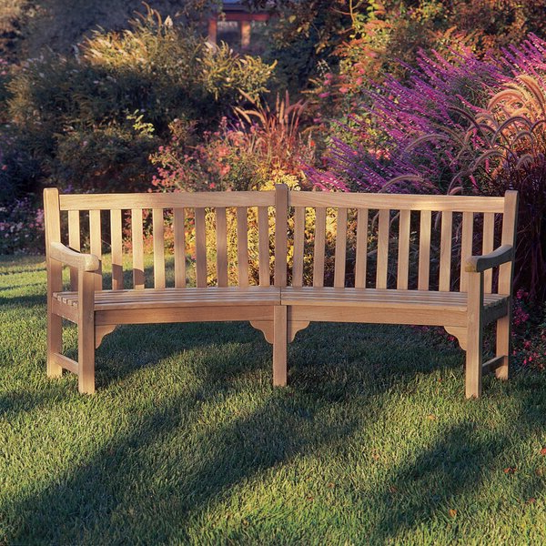 Most Popular Curved Garden Bench For Manchester Solid Wood Garden Benches (View 19 of 20)