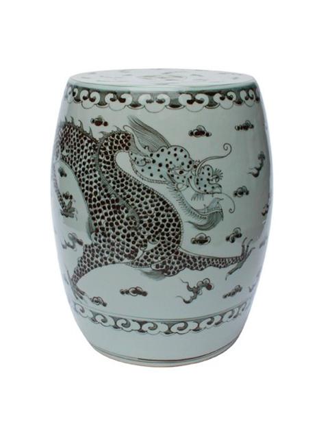 Most Popular Dragon Garden Stools Pertaining To Dragon Garden Stool Black White Chinese Ceramic Porcelain (View 4 of 20)