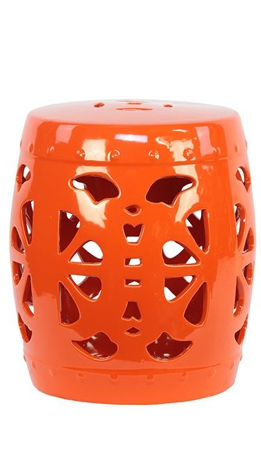 Most Popular Garden Stools / Side Tables In Tangerine Orange, So In Svendsen Ceramic Garden Stools (View 17 of 20)