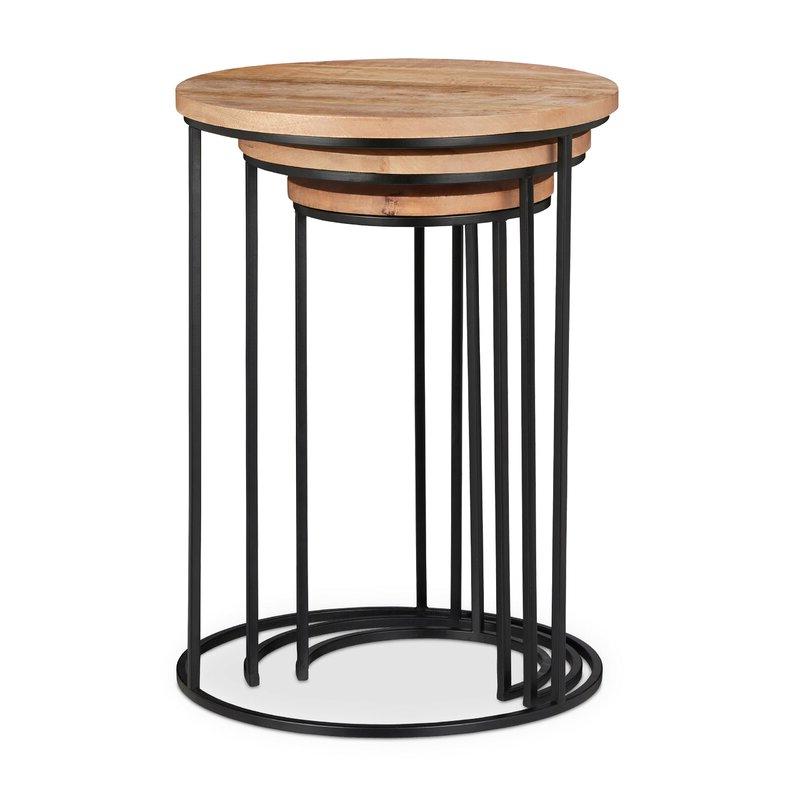 Most Popular Stanwood 3 Piece Nesting Tables Regarding Standwood Metal Garden Stools (View 7 of 20)