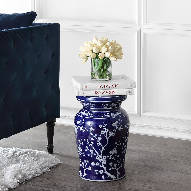 Most Popular Williar Cherry Blossom Ceramic Garden Stools With Williar Cherry Blossom Ceramic Garden Stool (View 3 of 20)