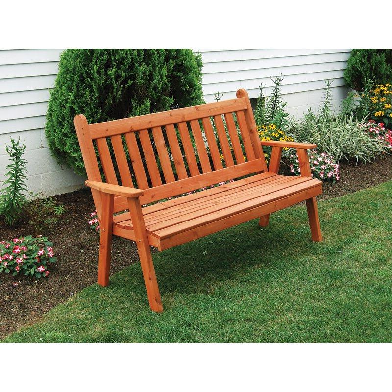 Most Recent Gaydos English Wooden Garden Bench Inside Harpersfield Wooden Garden Benches (View 11 of 20)