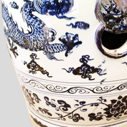 Most Recent Rywc02 Blue And White Dragon Ceramic Garden Stool – All For Dragon Garden Stools (View 9 of 20)