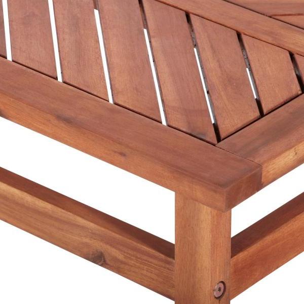 Most Recent Skoog Chevron Wooden Garden Benches Within Walker Edison Furniture Company Chevron Brown 4 Piece Wood (View 20 of 20)
